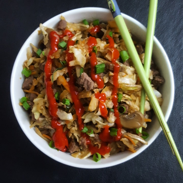 Venison Egg Roll in a Bowl